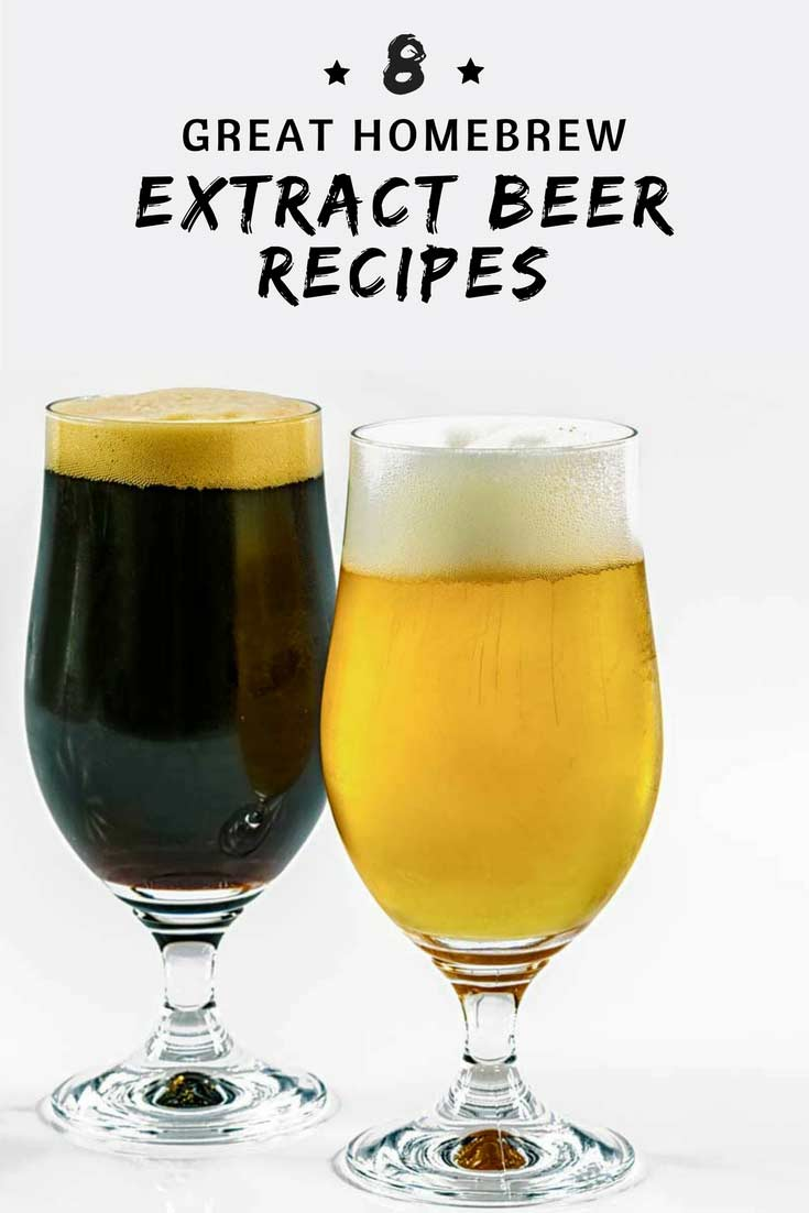 Try these 8 great, tried and proven, homebrew extract beer recipes.