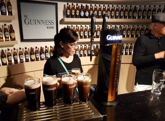 The perfect pour at the Guinness Storehouse Tour in Dublin