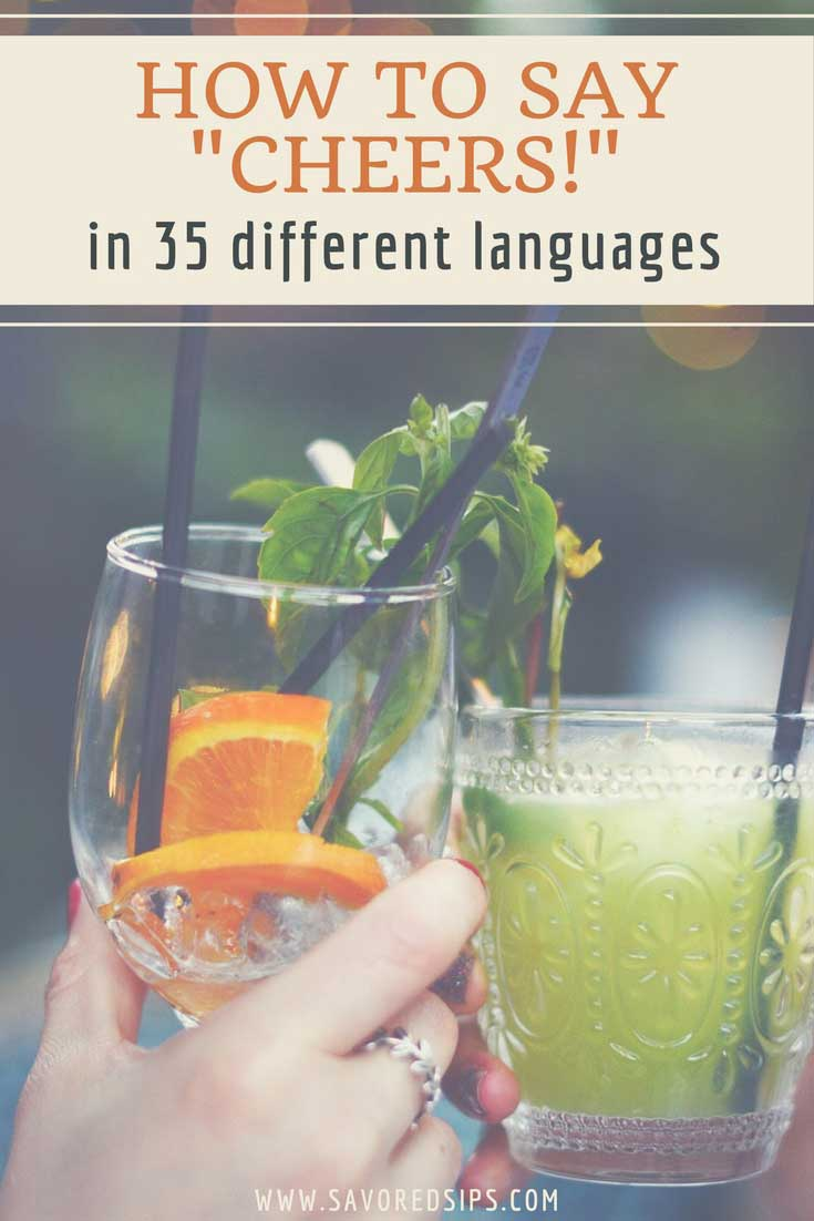 Learn how to say Cheers in different languages