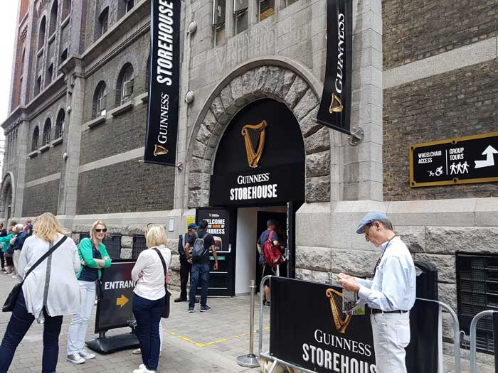 The Guinness Storehouse at St. James Gate