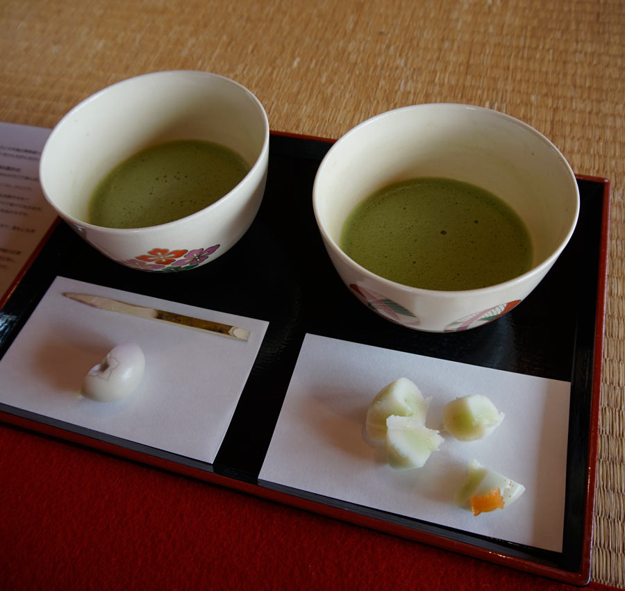 Matcha tea is thicker and stronger than most tea