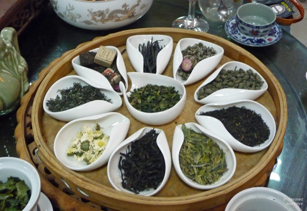 The tea selection in China is one of the best in the world