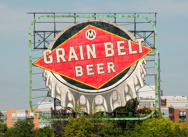 Grain Belt Beer Sign