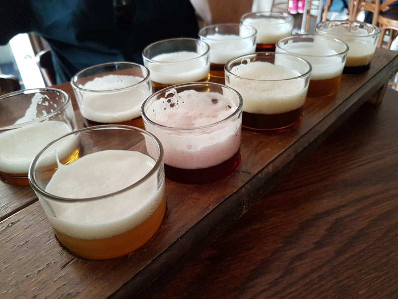 10 beer tasters at the Prague Beer Museum