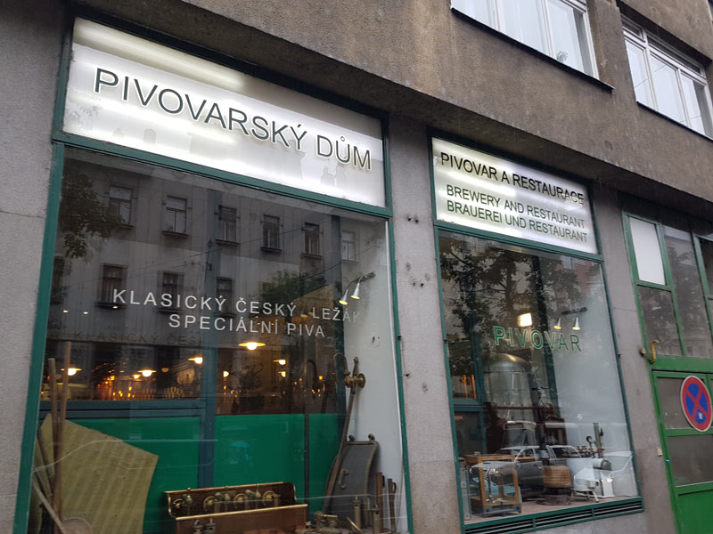Pivovarsky Dum in Prague's New Town