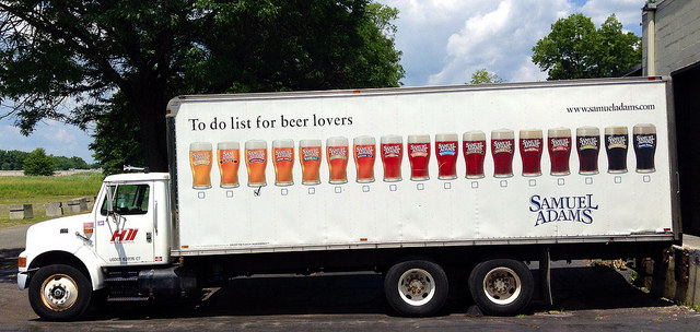 Samuel Adams Beer Truck