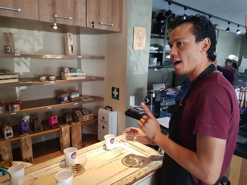 Andrés Paniagua, professional coffee taster