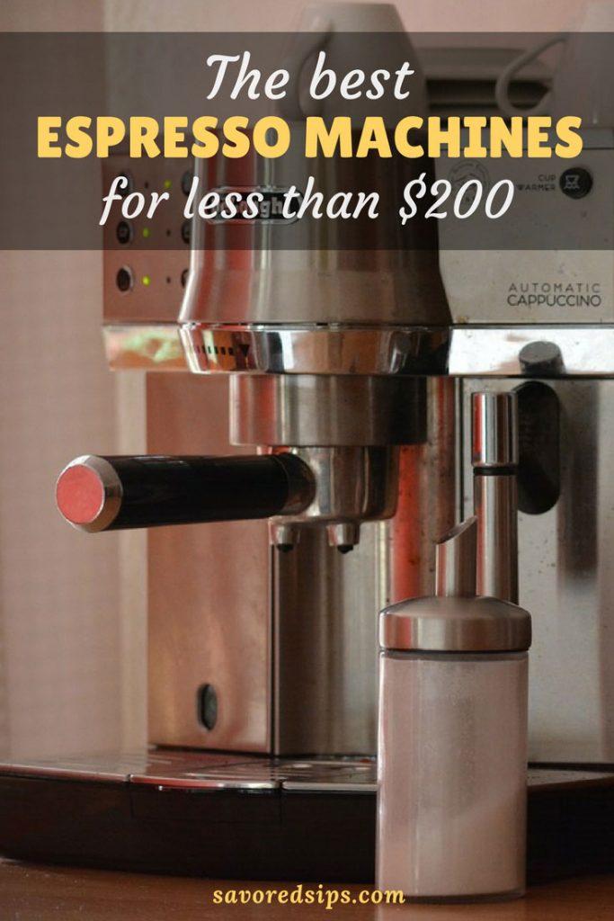 Best espresso machines for under $200