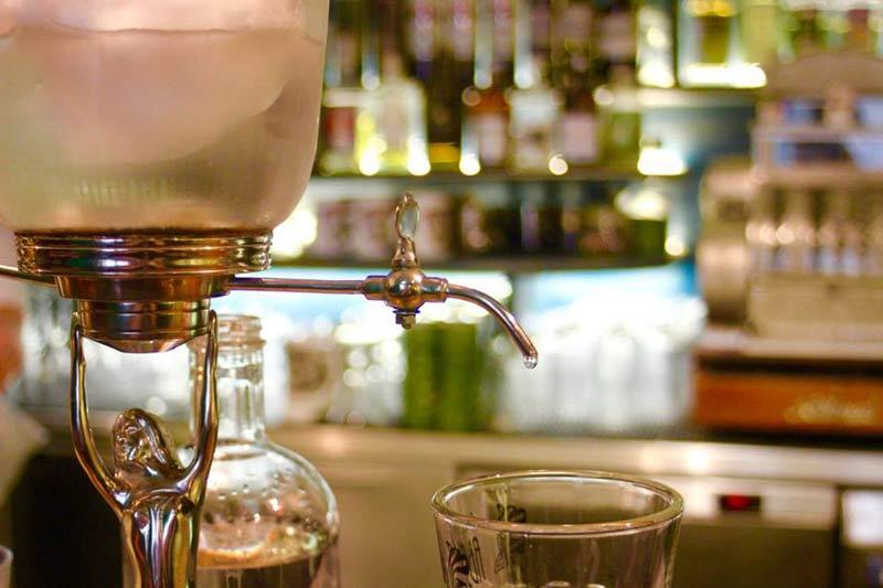 An absinthe drip