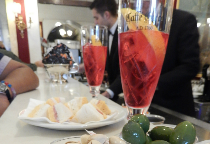 Aperol Spritz from Caffee Greco in Rome
