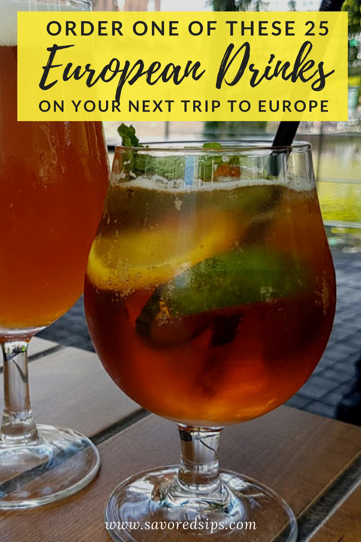Order one of these 25 European drinks on your next trip to Europe and drink like a local!
