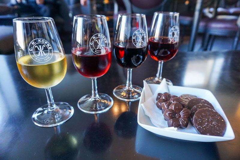 Port wine drinking
