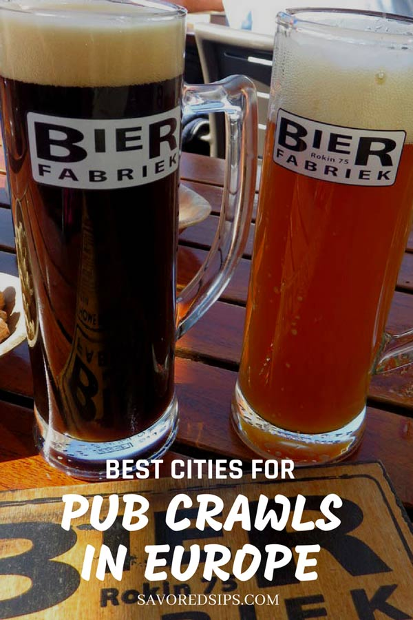 Best cities in Europe for a pub crawl