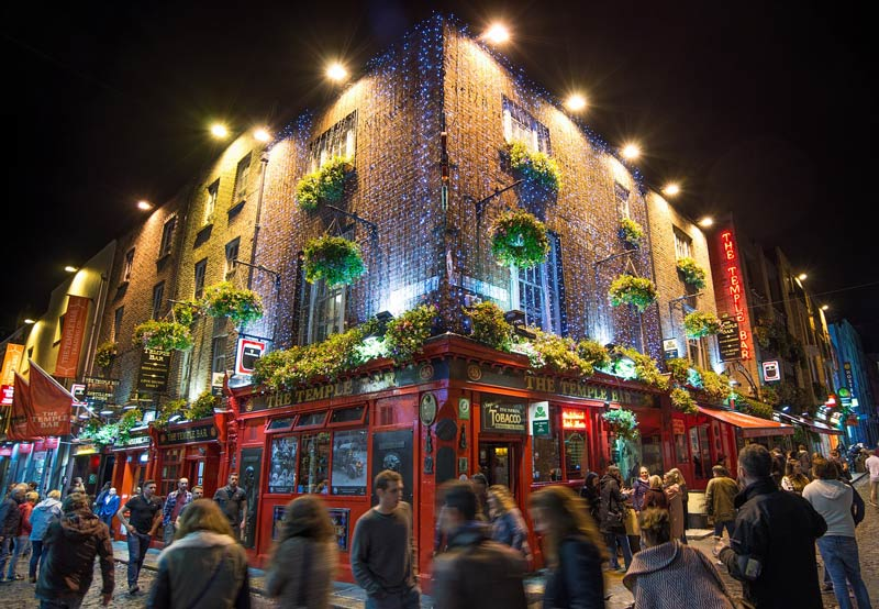 Temple Bar in Dublin is the perfect place for a pub crawl