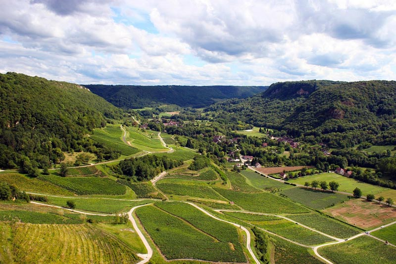 Jura wine region in France