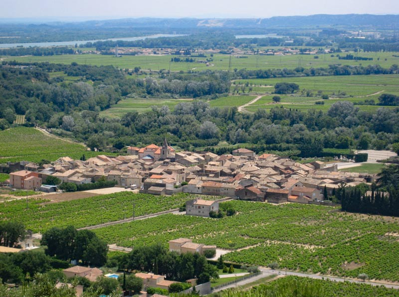 Vineyards of Chusclan in Rhone Valley