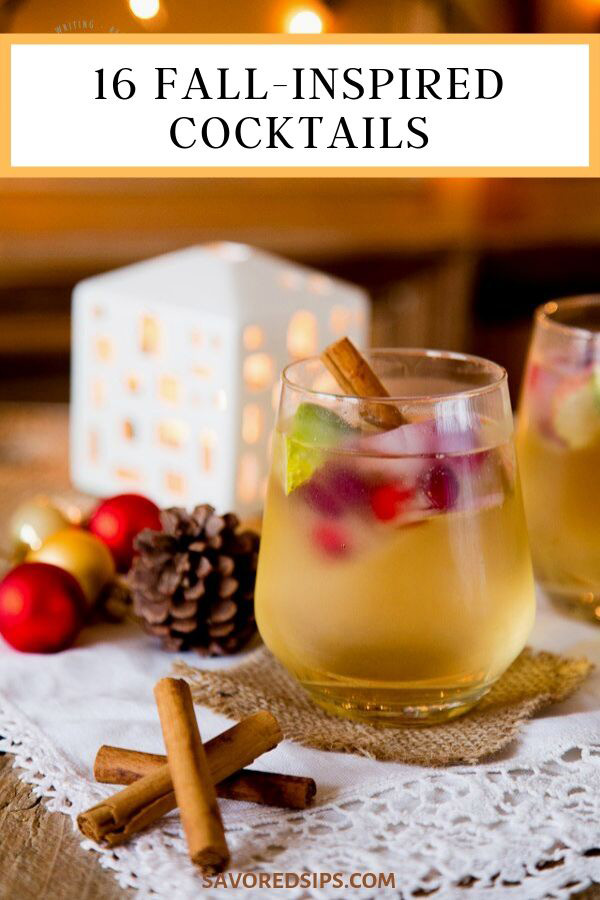These 16 fall-inspired cocktails are all the recipes you need for your holiday parties and events.