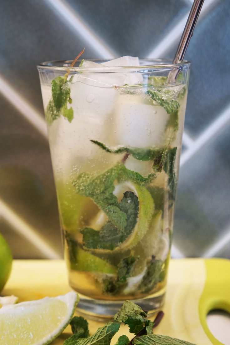 This Classic Mojito is easy to make and has the perfect ratios of mint to rum and sugar.