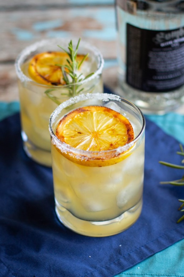 lemon mezcal cocktail