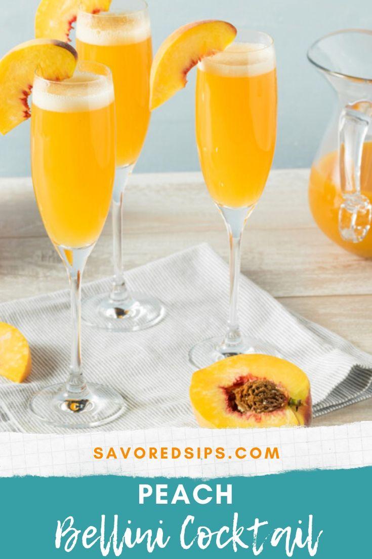 Peach Bellini Cocktail