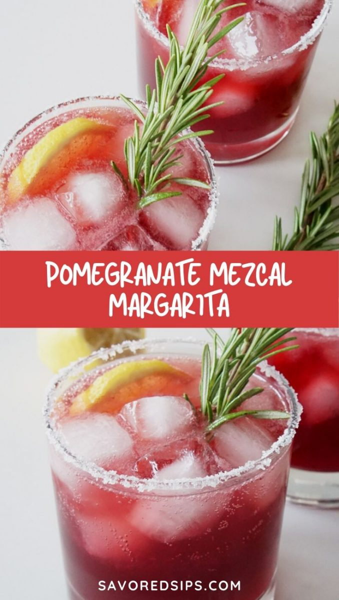 This Pomegranate Mezcal Margarita is a smoky, fruity version that will soon become a favorite.