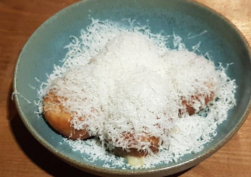 parmesan doughnuts at Frog
