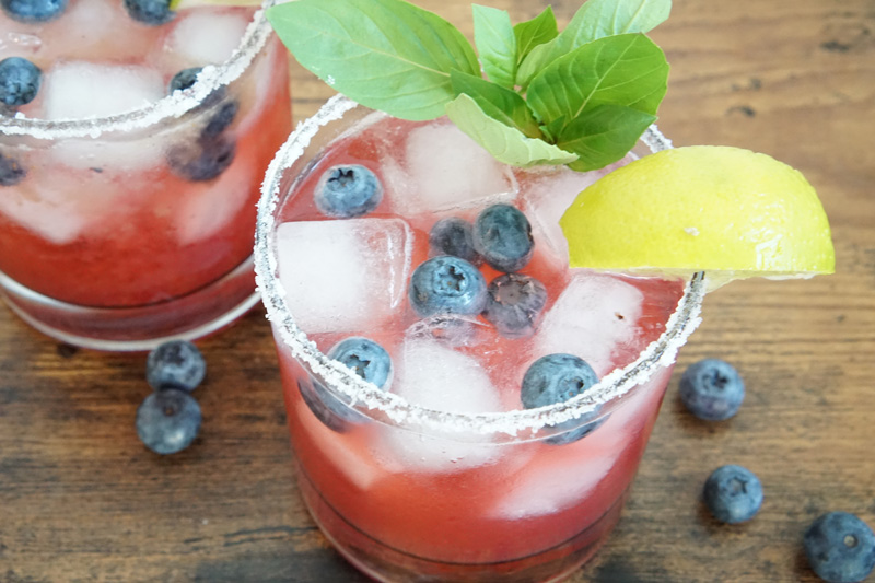 Simply Delicious Blueberry Margarita
