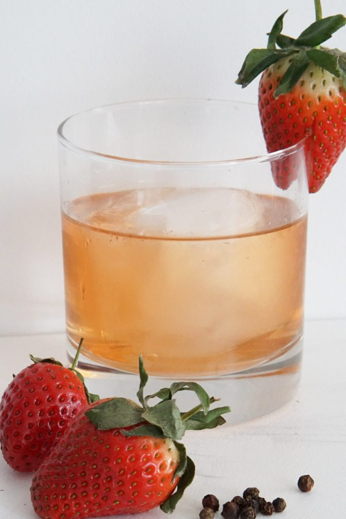 Strawberry Black Pepper Vodka Smash