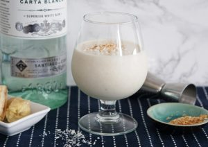 Spiked Coconut Banana Smoothie