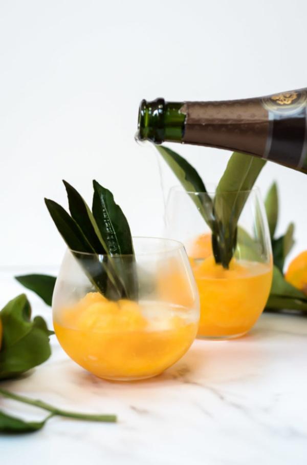 Tangerine Sorbet Mimosa