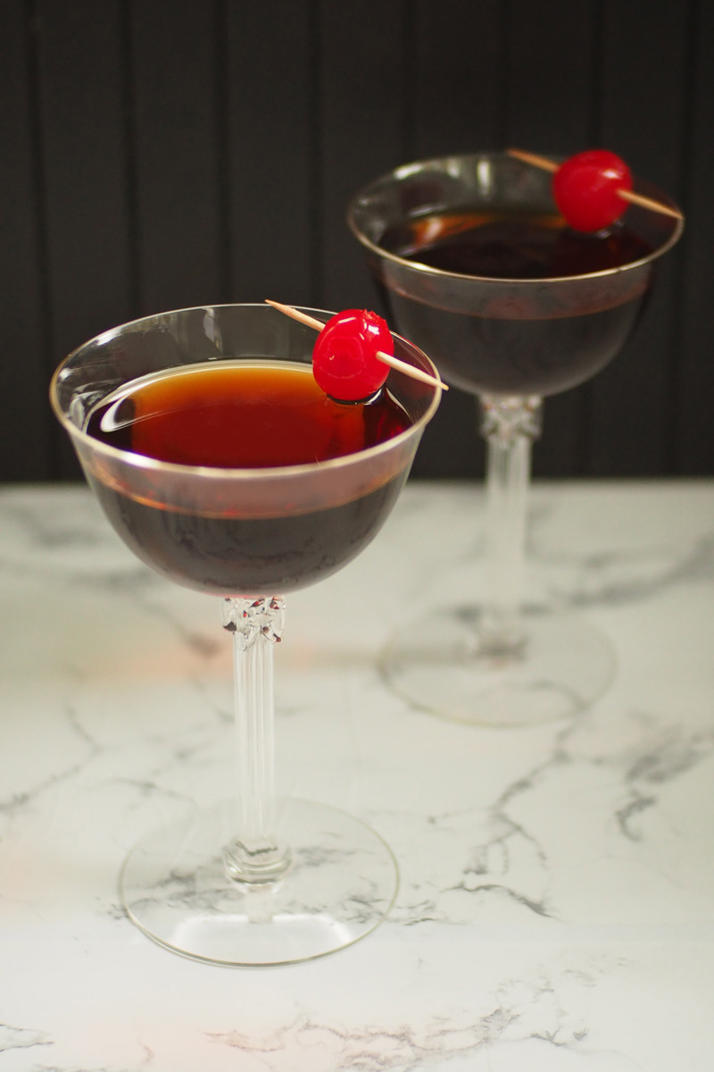 Black Manhattan Cocktail