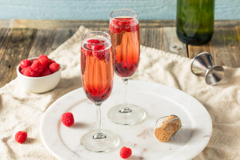 Sparkling Kir Royale Cocktail