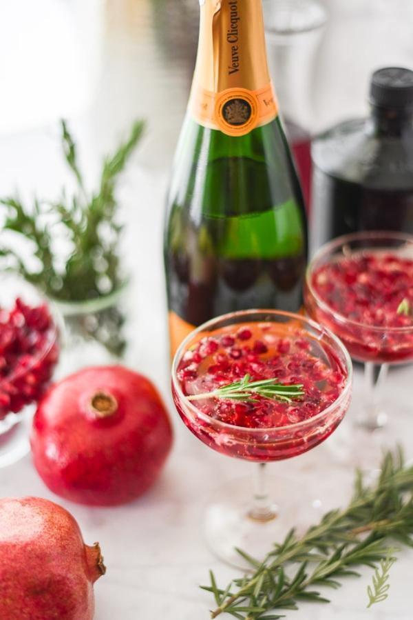 Pomegranate Rosemary Sparkler