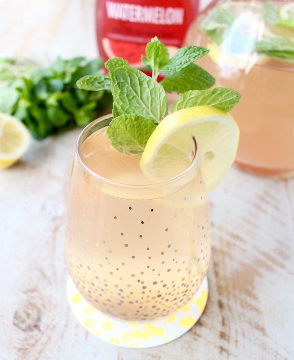 Watermelon Mint Champagne Punch
