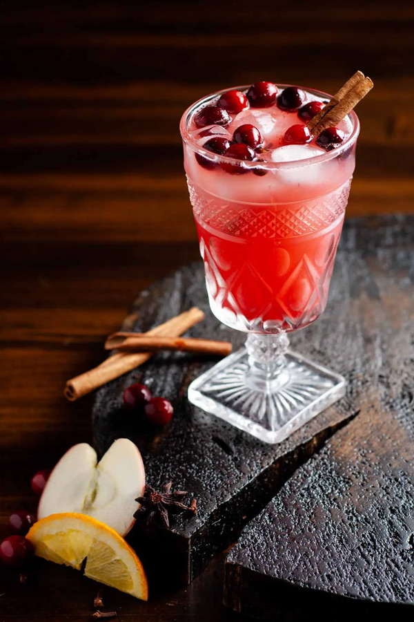 cranberry apple cider punch