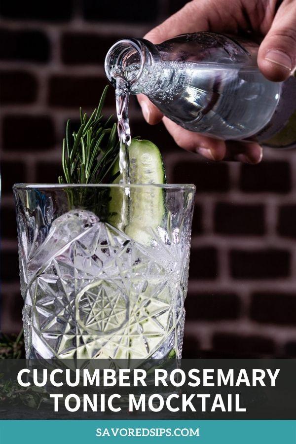 Cucumber Rosemary Tonic Mocktail