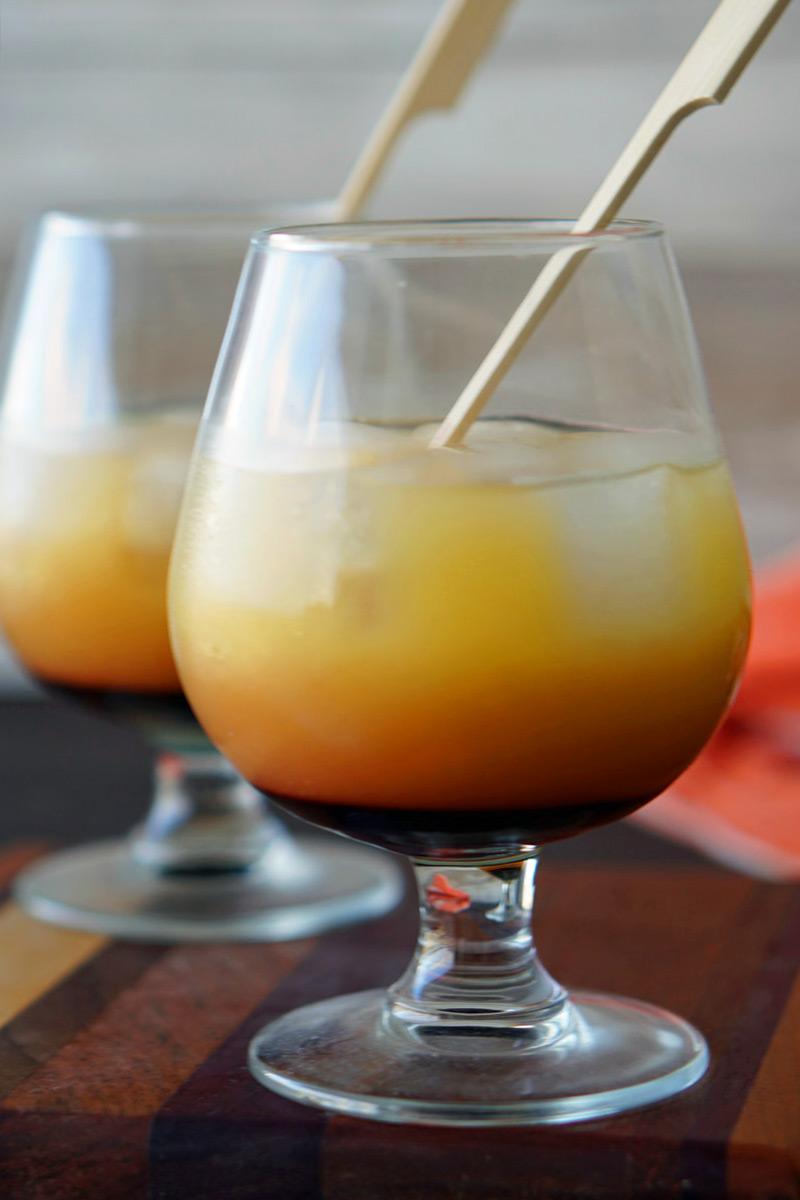 Mezcal Sunset Cocktail