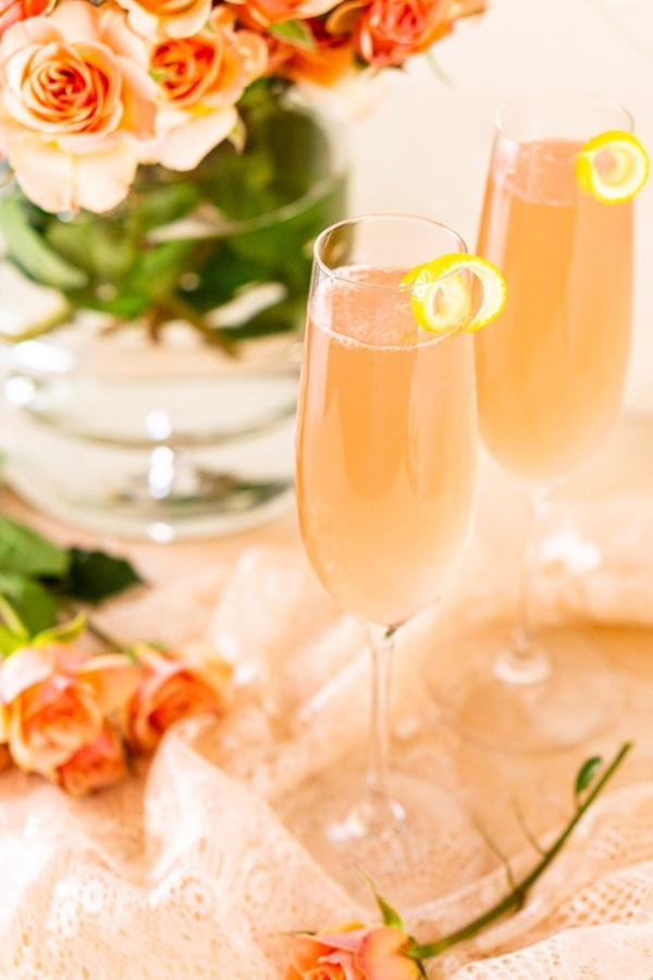 Rose French 75 Cocktail