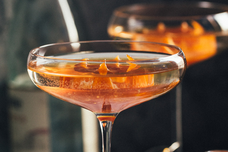 Tangerine Champagne Cocktail