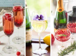 Valentine's Day Champagne Cocktails
