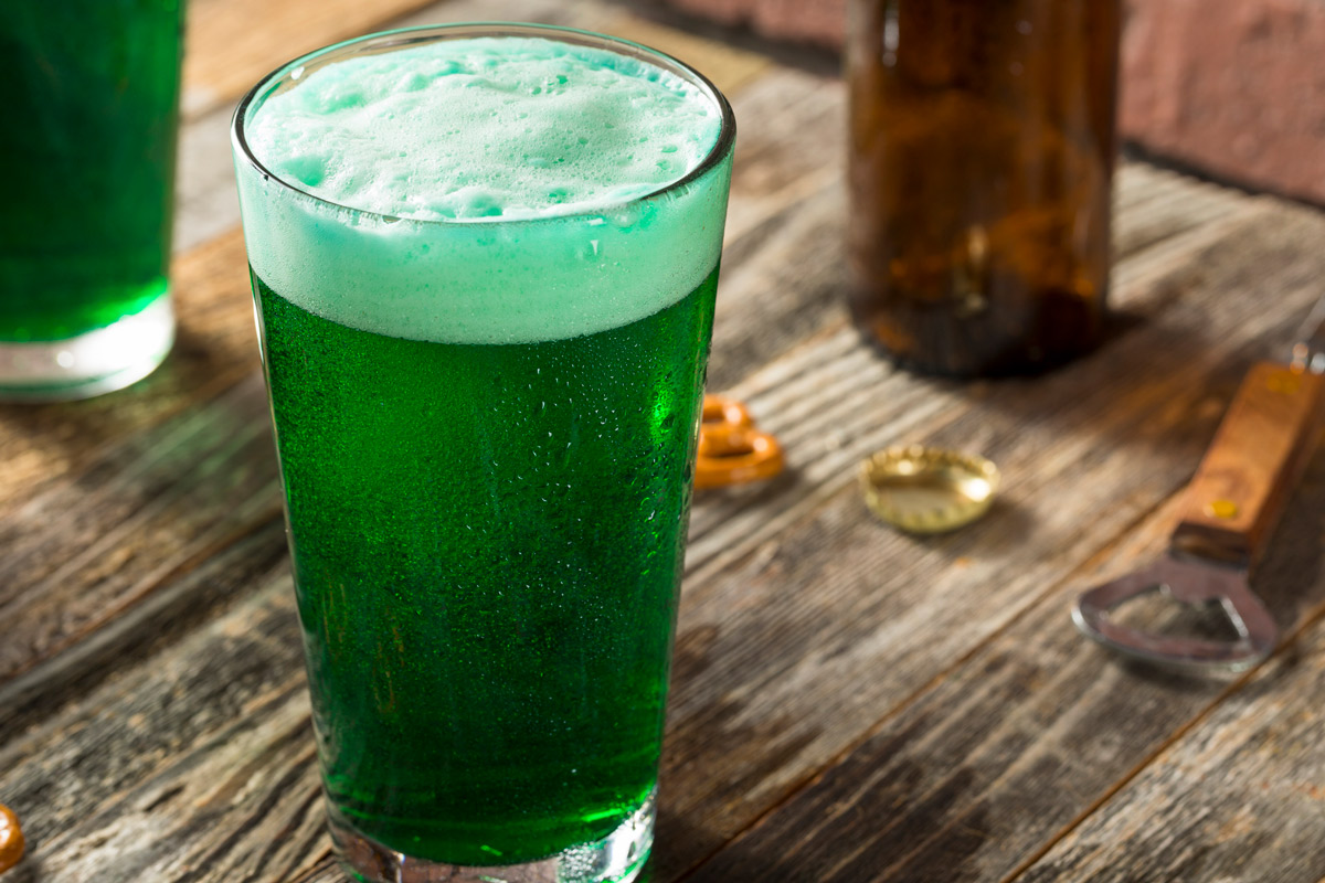 How to make green beer for st patrick's day