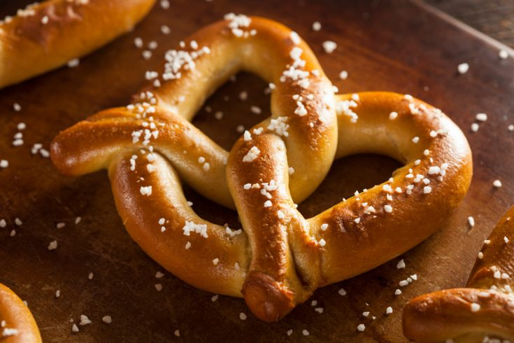 homemade soft pretzels