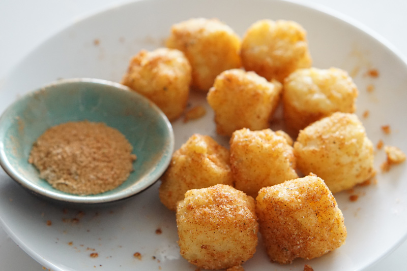 tater tots with seasoning