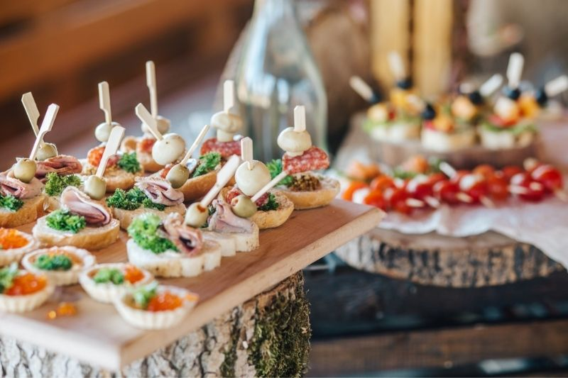 party food on platters