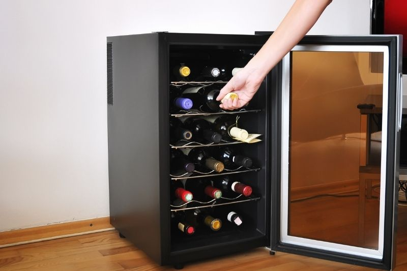 small wine refrigerator