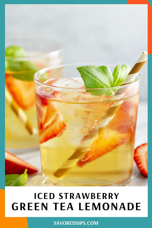 Iced Strawberry Green Tea Lemonade