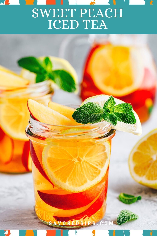 Sweet Peach Iced Tea Recipe