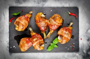 Bacon-Wrapped Chicken Legs
