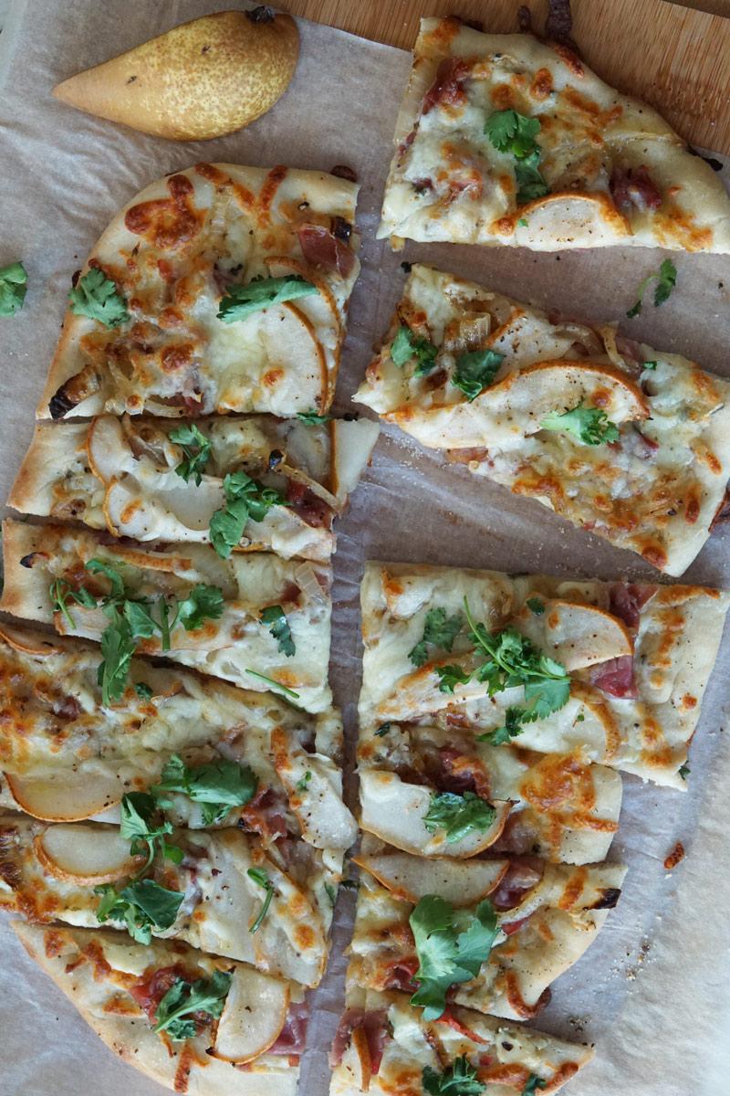 Prosciutto & Pear Pizza