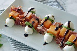 Prosciutto & Melon Appetizer Skewer